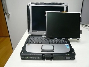現場用Panasonic TOUGHBOOK CF-19 ノートPC修理